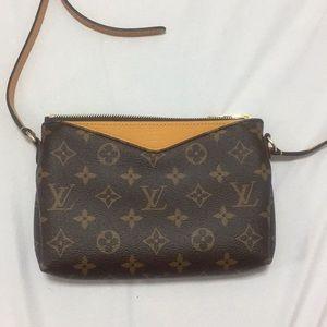 e55ad14d864f LOUIS VUITTON MonogramCanvas Pallas Crossbody Bag.  1